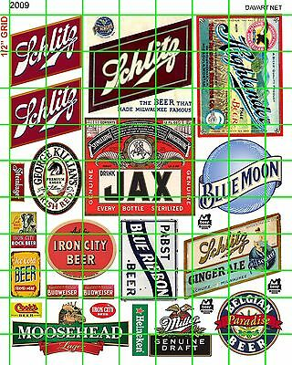 2009 Modern & Vintage Beer Scale Building Advertising Signage Dave's Decals