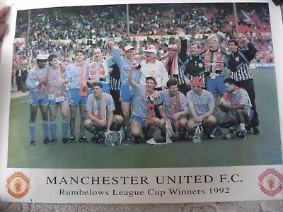 Manchester United Rumbelows Cup Winners 1992 Poster