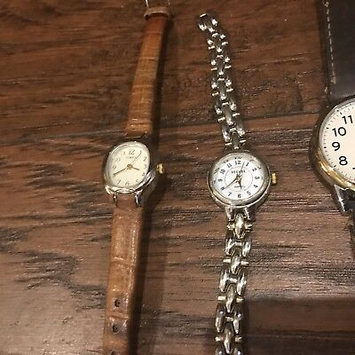Lot of 16 Vintage Various Brands Mostly TIMEX/ 1- Columbia Watch Band Broken ⌚️