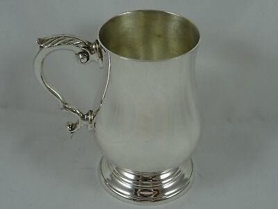 QUALITY, solid silver PINT TANKARD, 1968, 387gm