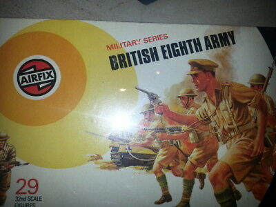 Airfix 1/32 englih 8th army INFANTRY TARGET BOX TYPE 70's
