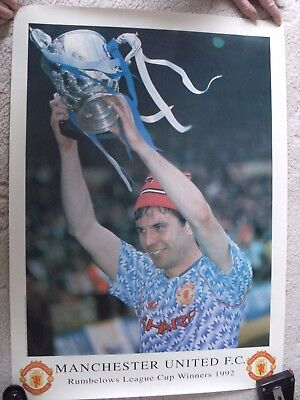 Manchester United Brian McClair Rumbelows Cup Winners 1992 Poster