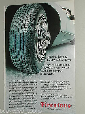 1970 Firestone Tire ad, Supreme Wide Oval Tires