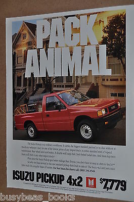 1990 Isuzu advertisement, ISUZU Pickup Truck
