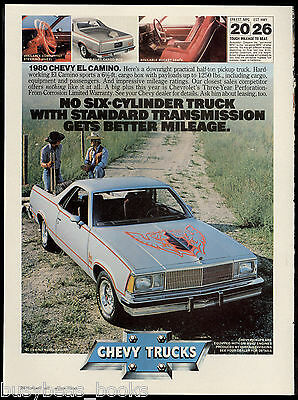 1980 Chevrolet EL CAMINO advertisement, Chevy El Camino pickup car