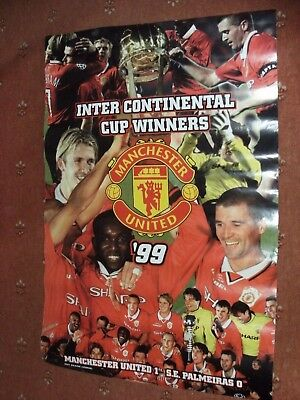 Manchester United Intercontinental Cup Winners 1999 Poster