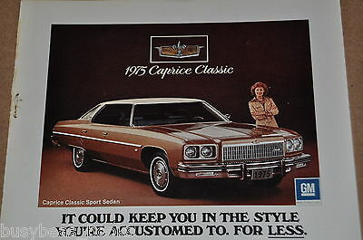 1975 CHEVROLET Caprice advertisement, Chevrolet CAPRICE Classic, Chevy