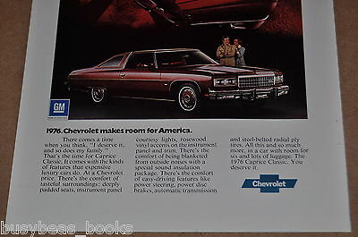 1976 CHEVROLET Caprice advertisement, Chevrolet CAPRICE Classic, Chevy