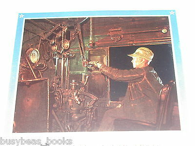 1943 Union Pacific RR ad, UP, Steam Loco Cab, Engineer