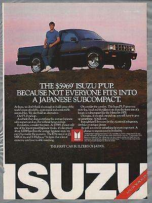 1986 ISUZU P'UP Pickup truck advertisement, Isuzu ad, small pickup