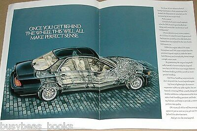 1991 ACURA 12-page advertisement, Acura Legend, photos, cutaway