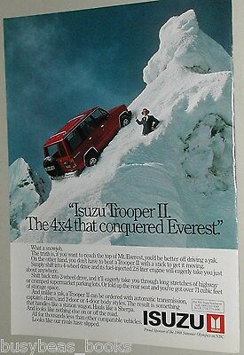 1988 Isuzu advertisement, ISUZU Trooper II, SUV on Mt Everest