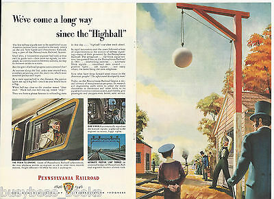 1946 PENNSYLVANIA 2-page advertisement, 100th anniversary,  HIGHBALL Signal