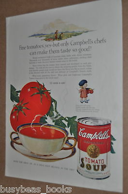 1927 Campbell's Soup advertisement, Campbell's Kids in color, Tomato Soup