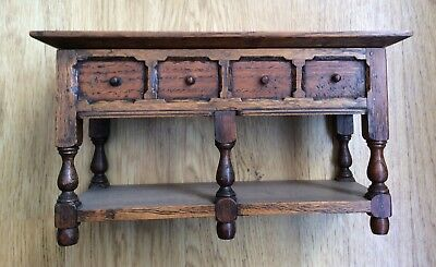 Old Carved Oak Miniature Sideboard - Apprentice Piece