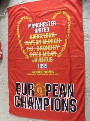 Manchester United European Cup Winners 1999 Flag