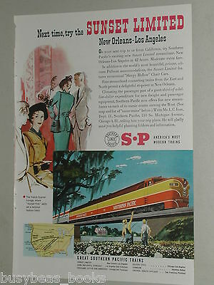 1951 Southern Pacific Lines ad, Sunset Limited