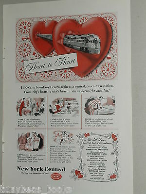 1951 New York Central RR ad, NYC, Water Level Route