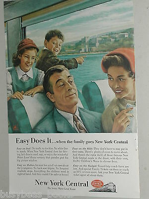 1954 New York Central ad, Family on train
