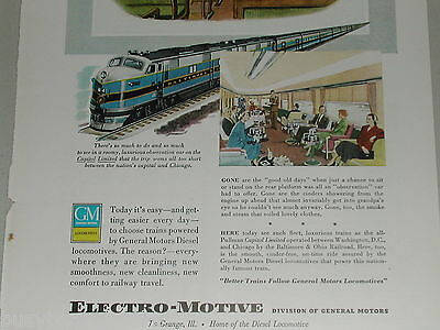 1949 Electro Motive Diesel ad, B&O Capital Limited