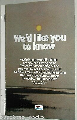 1973 EXXON Oil 8-page advertisement, formerly Standard Oil, ESSO