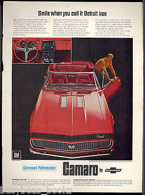 1967 CHEVROLET CAMARO advertisement, red convertible