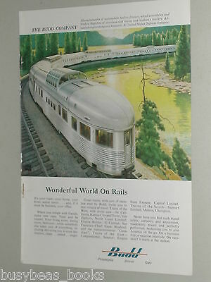 1955 BUDD Co. advertisement, Streamlined Railroad Dome Cars, USA manufacturer