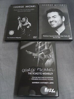 George Michael Wham 3 Dvds Rare Listen Without Prejudice 25 Road To Wembley