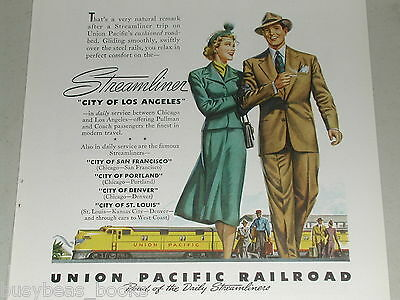 1948 Union Pacific advertisement, UP Streamliner City of Los Angeles