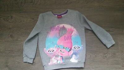 Girls Trolls jumper age 6-7 Perfect condition