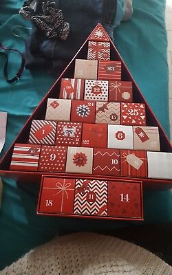 Empty Xmas Tree Boxes Advent Calender Craft m&s