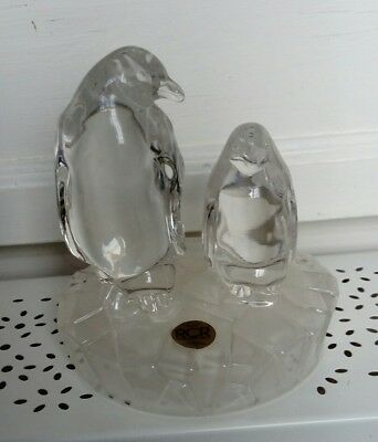 royal crystal rock penguins ornament
