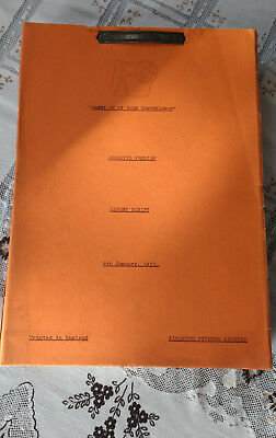 Carry on at your convenience original Film Script