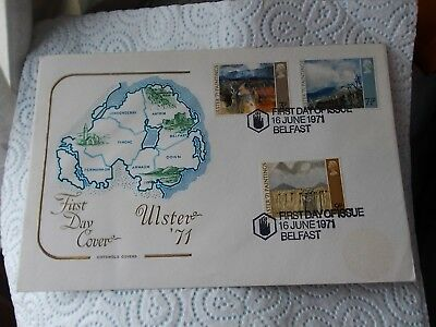 Cotswold First Day Cover - Ulster 1971