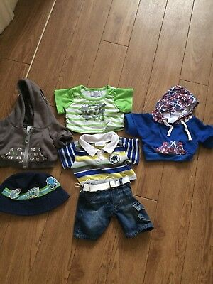 Build A Bear Clothes, 2X jumpers and tops , shorts and a cap bundle