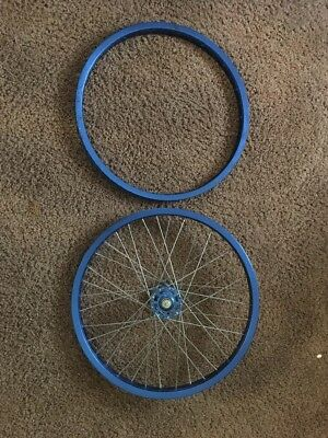 Blue Araya 7X 20x1.75 Rims Old School BMX Vintage Rare Amazing