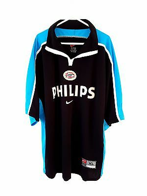 PSV Eindhoven Away Shirt 2000. XL. Nike. Black Adults Short Sleeves Football Top
