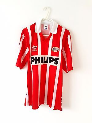PSV Eindhoven Home Shirt 1992. Small Adults. Adidas. Red Short Sleeves Top Only.