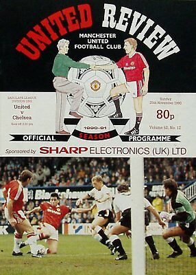 MANCHESTER UNITED v CHELSEA League Division 1 1990/91