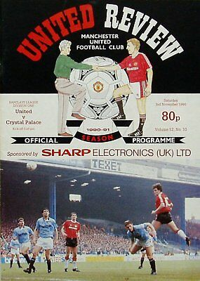 MANCHESTER UNITED v CRYSTAL PALACE League Division 1 1990/91