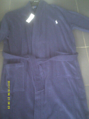New with tag mens L/XL cruise navy polo ralph lauren bath/dressing gown
