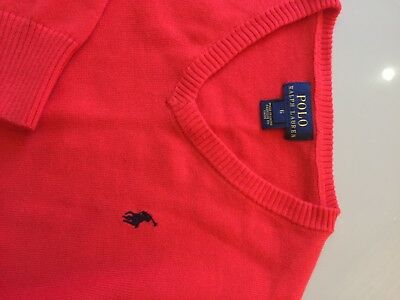 Genuine Boys Ralph Lauren V Neck Jumper Age 6T