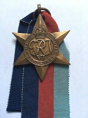 THE 1939 - 45 STAR Guaranteed Original British WW2 Medal + Ribbon