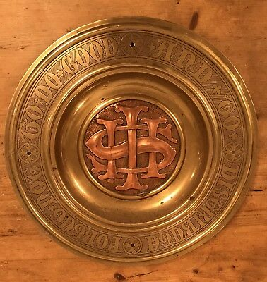 Brass And Copper Church Offering/Collection/Communion Plate/Alms/Dish