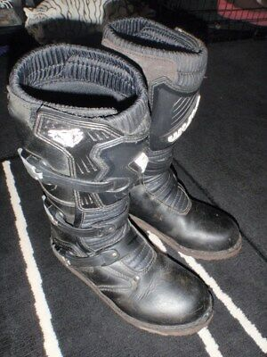 trials wulfsports boots UK 7 EUR 41 black hebo