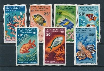 [96502] French Somalis Coast 1966 Fishes/Corals good set VF MNH Airmail stamps