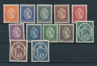 [96512] St. Vincent 1955 good set Very Fine MH stamps