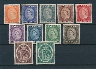 [96513] St. Vincent 1955 good lot Very Fine MH stamps