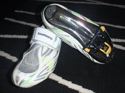 Shimano womens carbon fiber composite cycling road shoes size UK41 lightweight