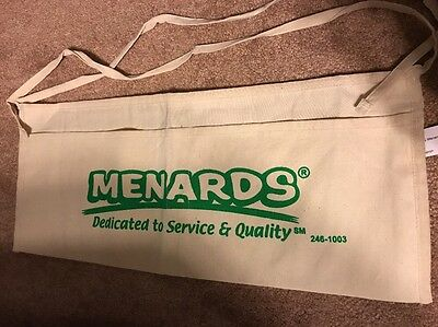 Menards Canvas Nail Apron Bag Cash Change Flea Market Garage sale pouch